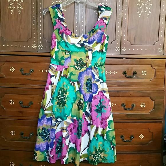 Calvin klein dresses spring flower floral cotton dress poshmark calvin klein spring flower floral cotton dress mightylinksfo